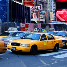 Taxibilar i New York